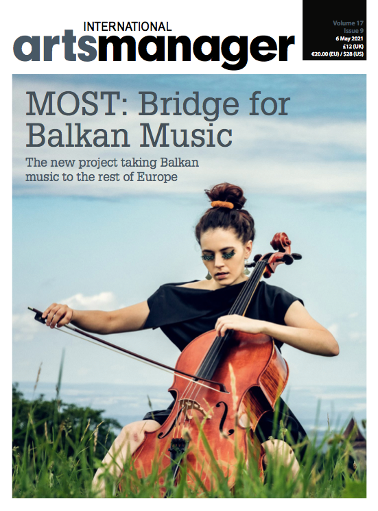 Cover of Issue 9 of IAM magazine featuring MOST: Bridge for Balkan Music.